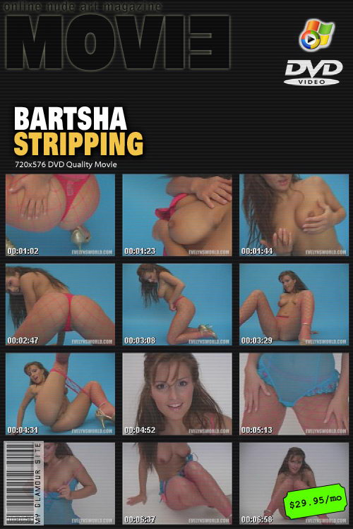 Bartsha - `Stripping` - by Tom Veller for MYGLAMOURSITE