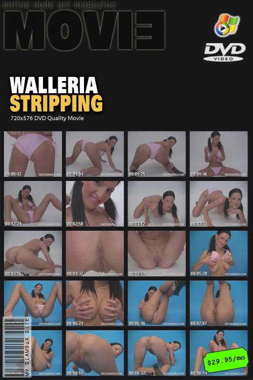 Walleria - `Stripping` - by Tom Veller for MYGLAMOURSITE