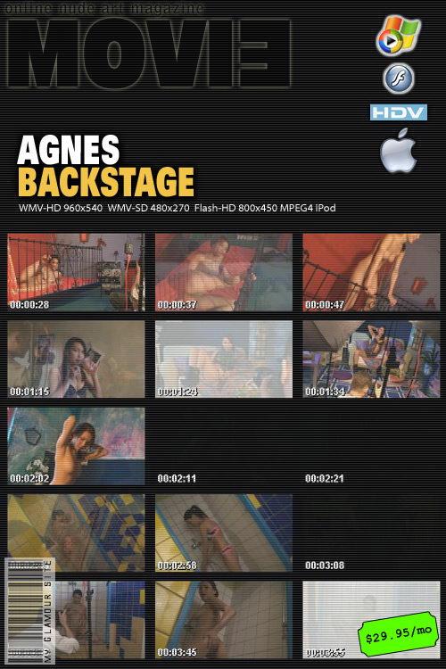 Agnes - `Backstage` - by Tom Veller for MYGLAMOURSITE