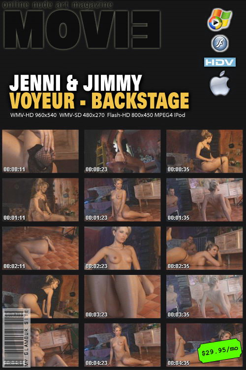 Jenni - `Voyeur Backstage` - by Tom Veller for MYGLAMOURSITE