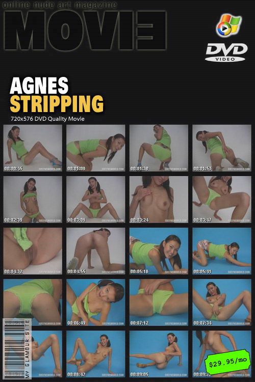 Agnes - `Stripping` - by Tom Veller for MYGLAMOURSITE