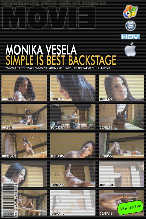 Monika Vesela - `Simple is Best Backstage` - by Tom Veller for MYGLAMOURSITE