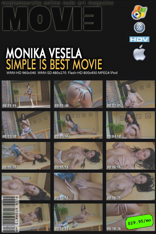 Monika Vesela - `Simple is Best video` - by Tom Veller for MYGLAMOURSITE