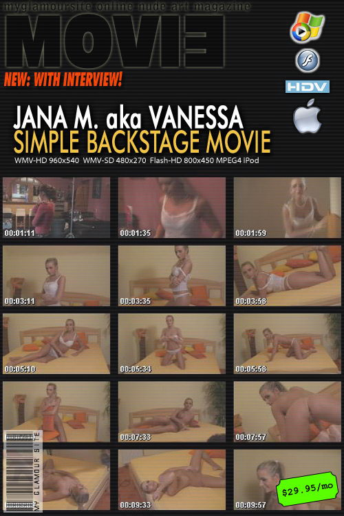 Jana M - `Simple Backstage video with Interview` - by Tom Veller for MYGLAMOURSITE