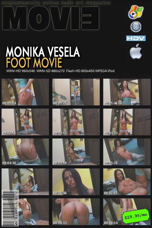 Monika Vesela - `Foot video` - by Tom Veller for MYGLAMOURSITE