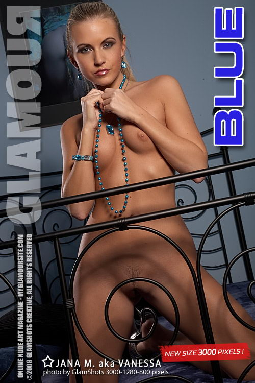 Jana M - `Blue` - by Tom Veller for MYGLAMOURSITE