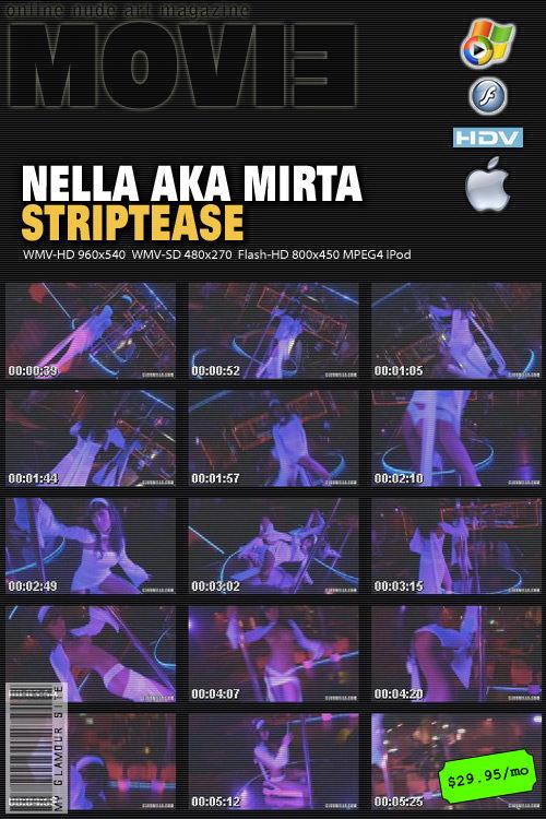 Nella - `Striptease Movie` - by Tom Veller for MYGLAMOURSITE