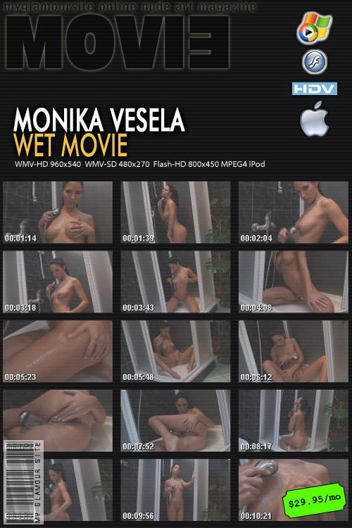 Monika Vesela - `Wet Movie` - by Tom Veller for MYGLAMOURSITE