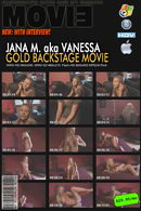 Jana M in Gold Backstage Movie with Interview video from MYGLAMOURSITE by Tom Veller