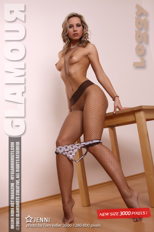 Jenni - `Leggy` - by Tom Veller for MYGLAMOURSITE