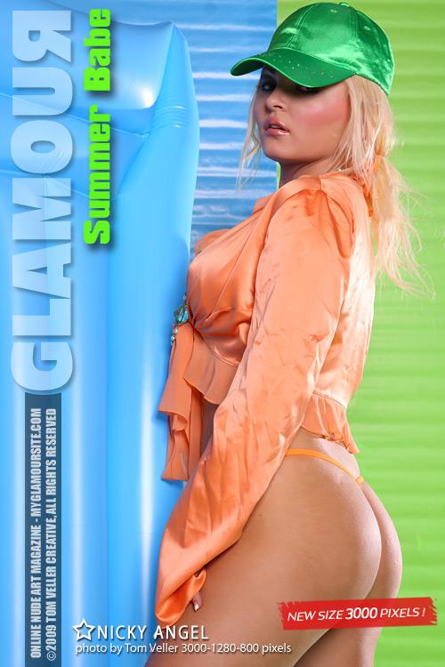 Nicky Angel - `Summer Babe` - by Tom Veller for MYGLAMOURSITE