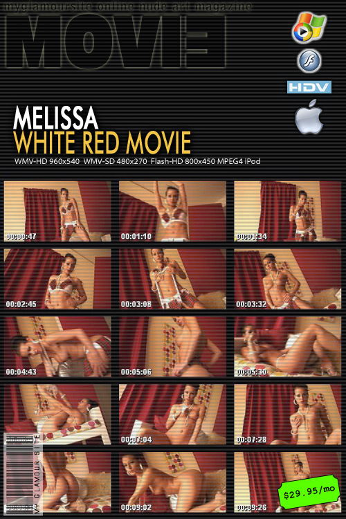 Melissa - `White Red` - by Tom Veller for MYGLAMOURSITE