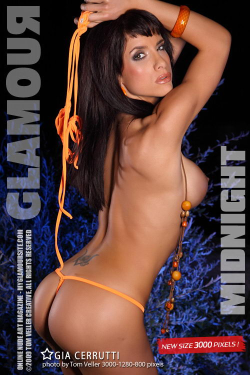 Gia Cerrutti - `Midnight` - by Tom Veller for MYGLAMOURSITE