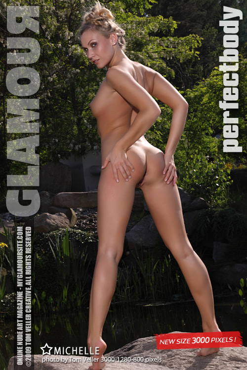Michelle F - `Perfect Body` - by Tom Veller for MYGLAMOURSITE