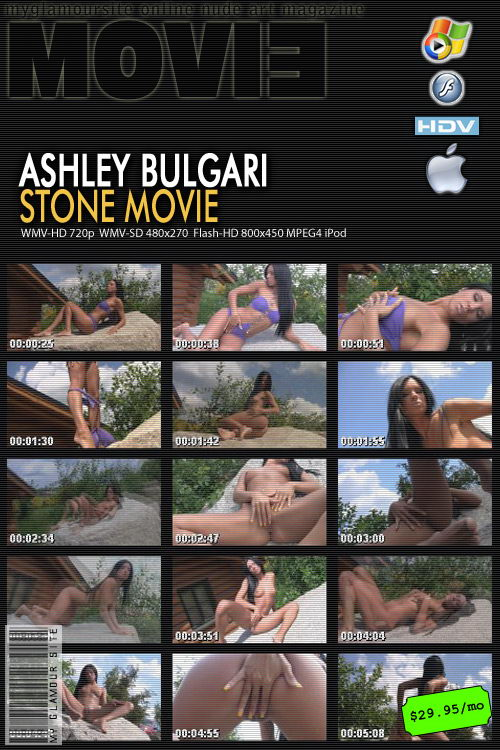 Ashley Bulgari - `Stone Movie` - by Tom Veller for MYGLAMOURSITE
