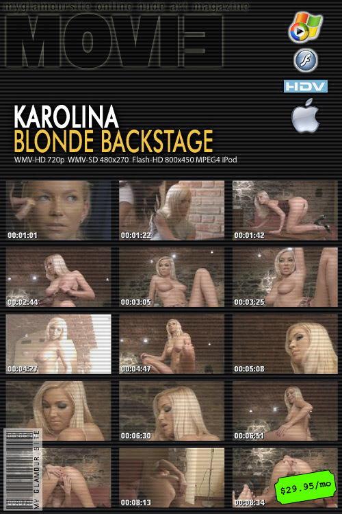 Karolina - `Blonde Backstage` - by Tom Veller for MYGLAMOURSITE