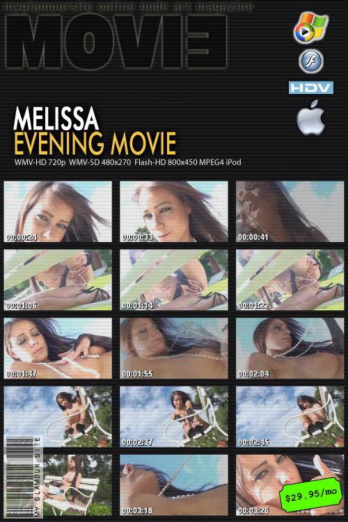 Melissa - `Evening` - by Tom Veller for MYGLAMOURSITE