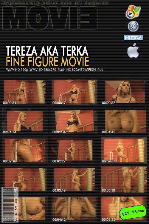 Tereza - `Fine Figure` - by Tom Veller for MYGLAMOURSITE