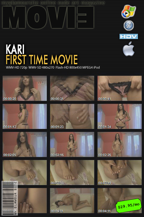 Kari - `First Time Movie` - by Tom Veller for MYGLAMOURSITE