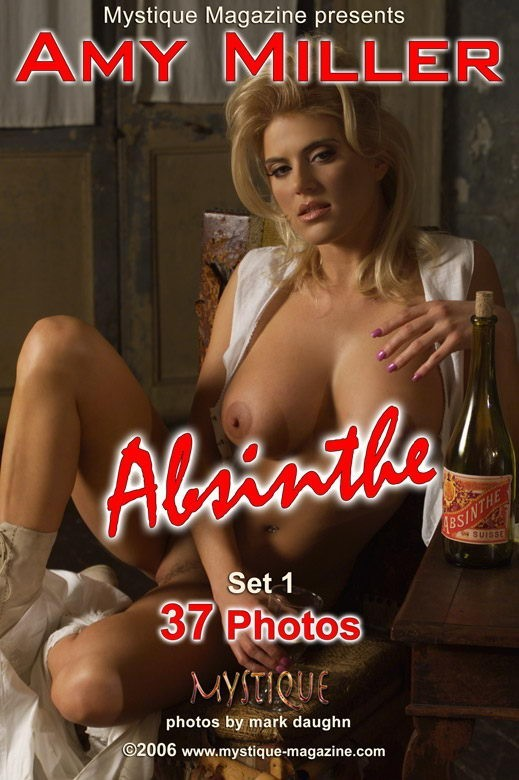 Amy Miller - `Absinthe Set 1` - by Mark Daughn for MYSTIQUE-MAG