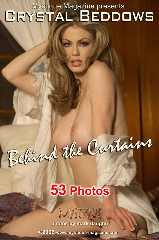 Crystal Beddows - `Behind the Curtains` - by Mark Daughn for MYSTIQUE-MAG