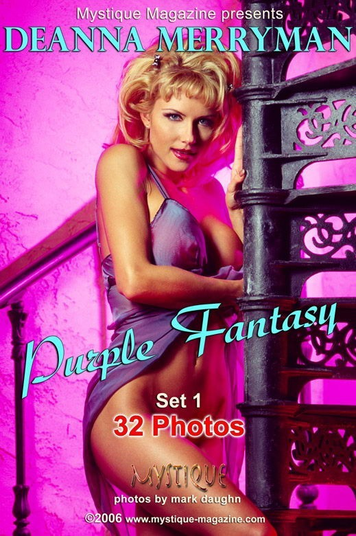 Deanna Merryman - `Purple Fantasy Set1` - by Mark Daughn for MYSTIQUE-MAG