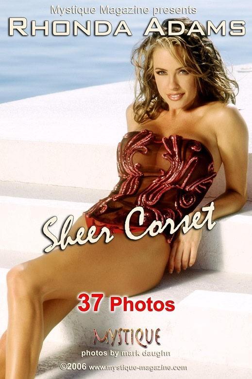 Rhonda Adams - `Sheer Corset` - by Mark Daughn for MYSTIQUE-MAG