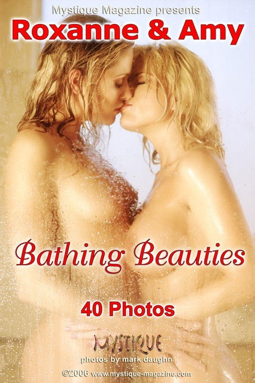 Roxanne and Amy - `Bathing Beauties` - by Mark Daughn for MYSTIQUE-MAG