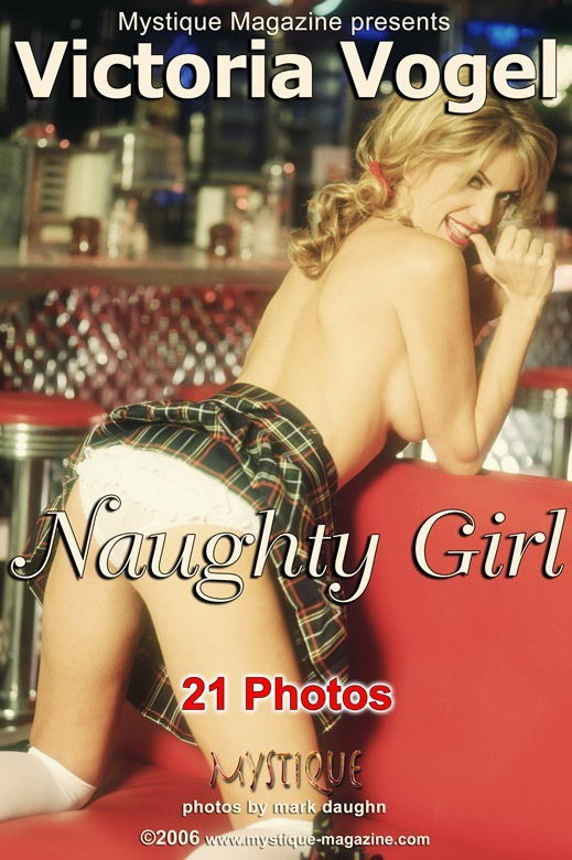 Victoria Vogel  - `Naughty Girl` - by Mark Daughn for MYSTIQUE-MAG