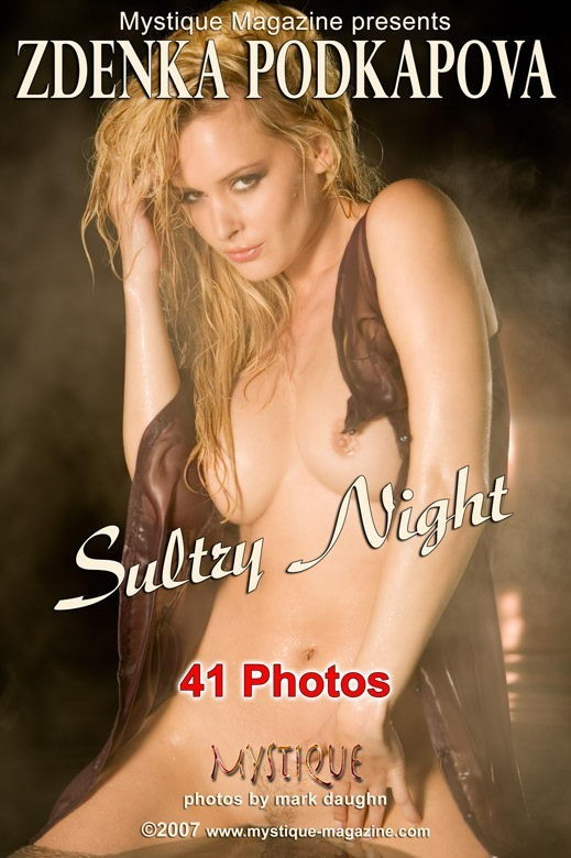 Zdenka Podkapova - `Sultry Night` - by Mark Daughn for MYSTIQUE-MAG