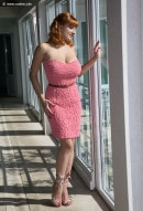 Valory Irene in Apricot Dress gallery from NADINE-J