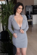 Luna Amor in Grey Dress gallery from NADINE-J