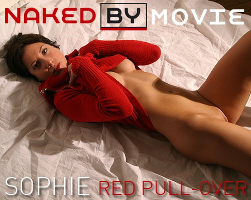Sophie - `Red Pull-Over` - for NAKEDBY VIDEO