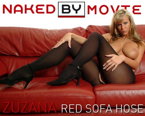 Zuzana - `Red Sofa Hose` - for NAKEDBY VIDEO