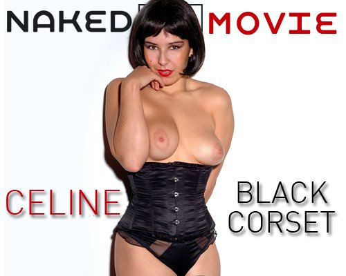 Celine - `Black Corset` - for NAKEDBY VIDEO