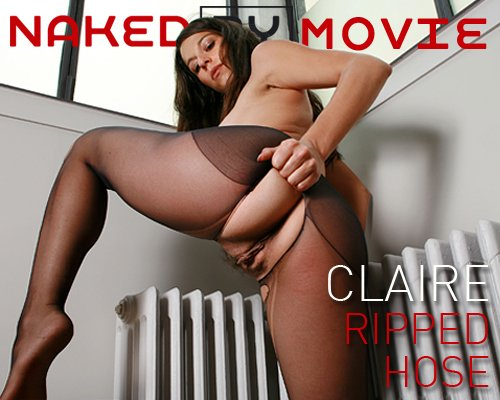 Claire - `Ripped Hose` - for NAKEDBY VIDEO