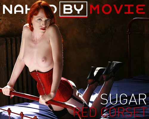 Sugar - `Red Corset` - for NAKEDBY VIDEO