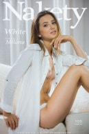 Milana in White gallery from NAKETY by Pazyuk