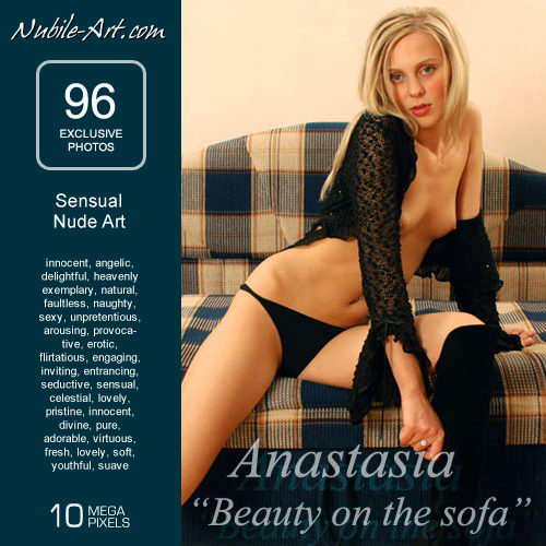 Anastasia - `Beauty on the Sofa` - for NUBILE-ART