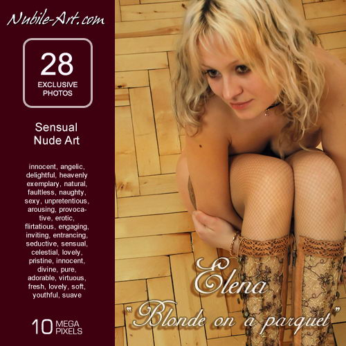 Elena - `Blonde on Parquet` - for NUBILE-ART