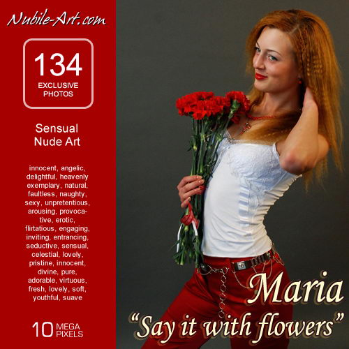 Maria - `Say it with Flowers` - for NUBILE-ART