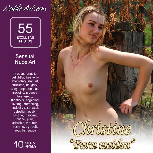 Christine - `Farm Maiden` - for NUBILE-ART