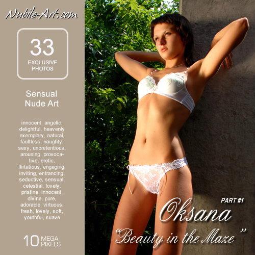 Oksana - `Beauty in the Maze` - for NUBILE-ART