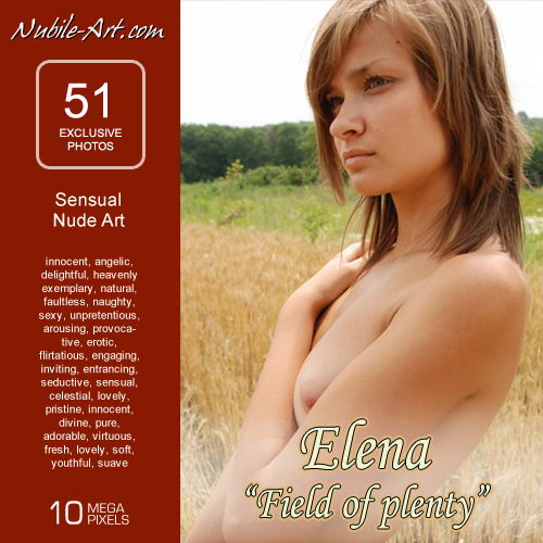Elena - `Field of Pleanty` - for NUBILE-ART
