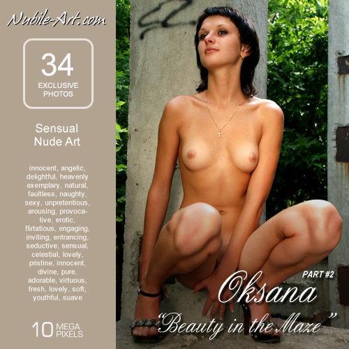 Oksana - `Beauty in the Maze II` - for NUBILE-ART