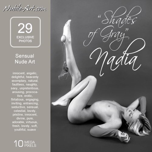 Nadia - `Shades of Grey` - for NUBILE-ART