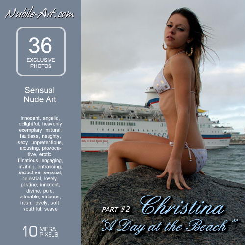 Christina - `A Day at the Beach II` - for NUBILE-ART