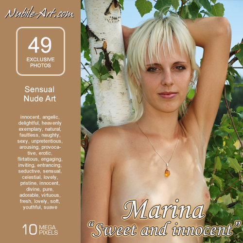 Marina - `Sweet and Innocent` - for NUBILE-ART