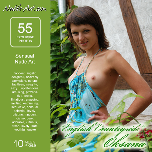 Oksana - `English Countryside` - for NUBILE-ART
