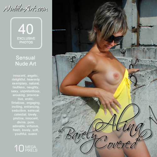 Alina - `Barely Covered` - for NUBILE-ART